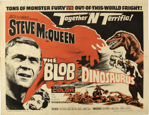 steve mcqueen blob horror movie poster