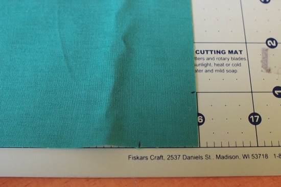Diy pocket square cut corners for hem.