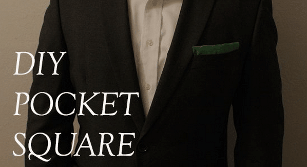 How to Make a Pocket Square With Hem Tape | The Art of Manliness