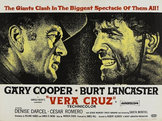 vera cruz movie poster gary cooper burt lancaster