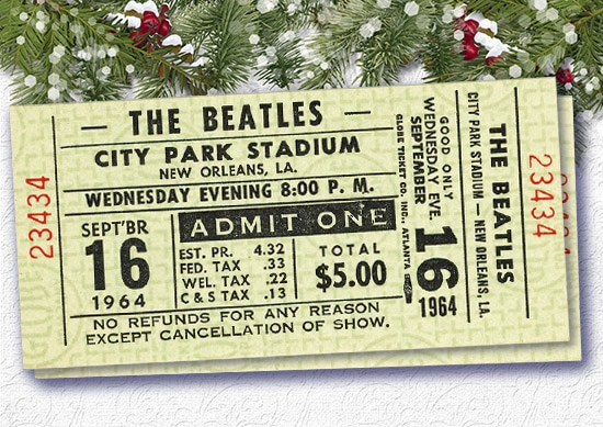 The Beatles city park stadium Concert Tickets.