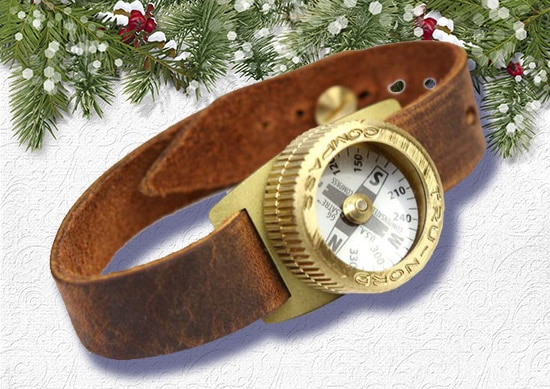 Explorers Watch with White Christmas Background.