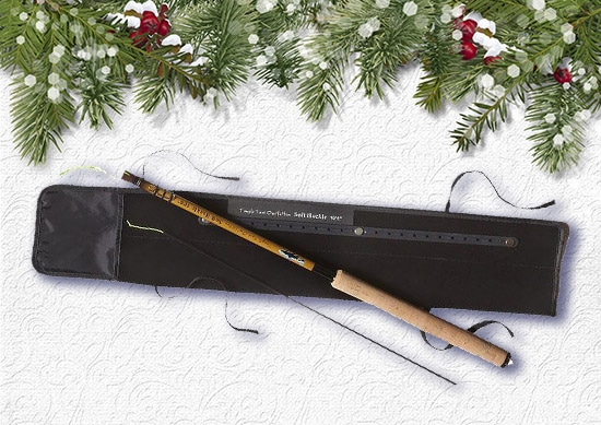 Patagonia Fly Fishing Kit with white Christmas Background.