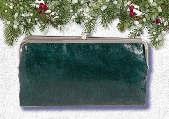 Women Hobo Clutch White Christmas Background.