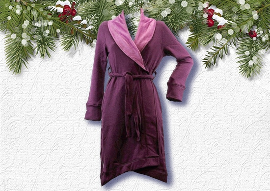 Bath Robe for women with Christmas Background.