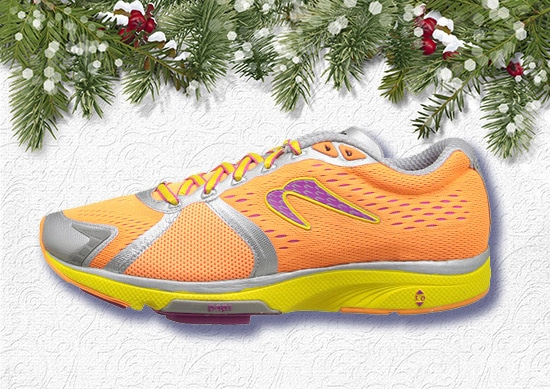 Newton Running Shoes for men with Christmas Background.