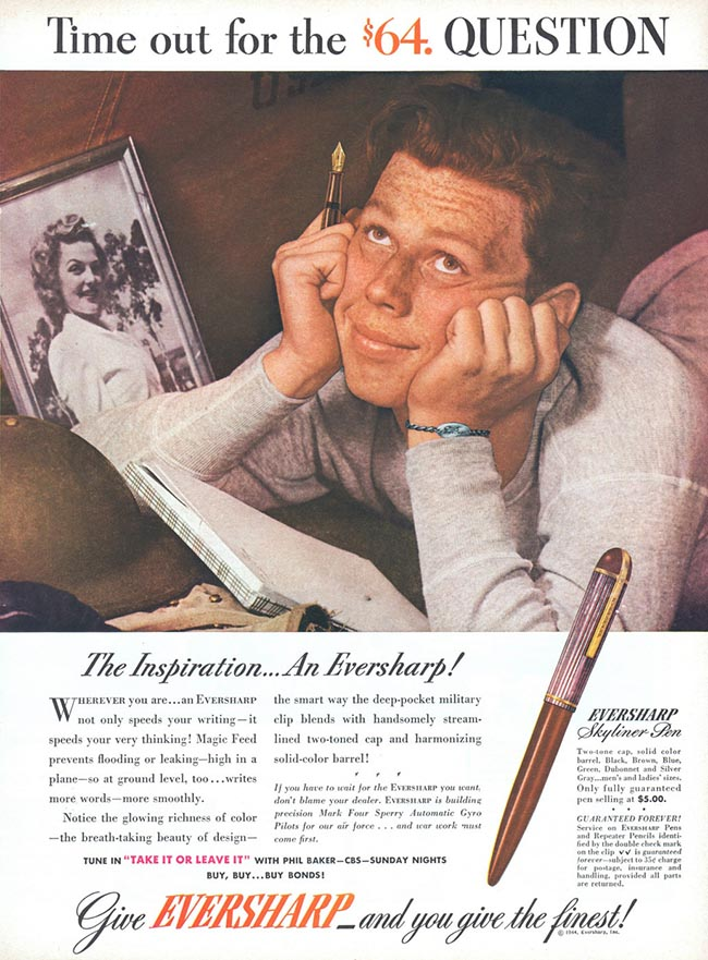 vintage eversharp fountain pen ad advertisement