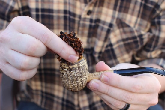 pack tobacco pipe pinch frank method how to