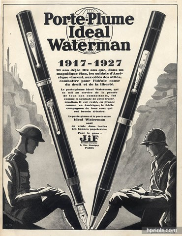 vintage waterman pen ad advertisement early 1900s