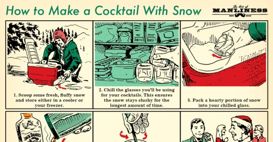 how to make a cocktail drink with snow