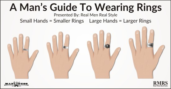 If You Have Large Hands Can Wear Larger Rings Men With Smaller Should Balance Their Proportions By Wearing