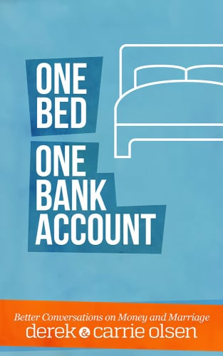 One bed one bank account book cover Derek & Carrie Olsen.