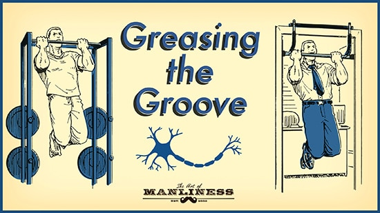 Get stronger by greasing the groove illustration.