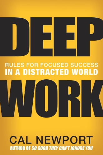 deep work book cover author cal newport