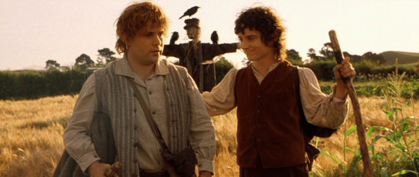 frodo samwell hobbit lord of the rings scarecrow