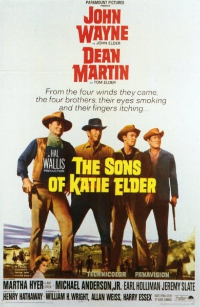 hijos de katie anciano occidental película cartel john wayne