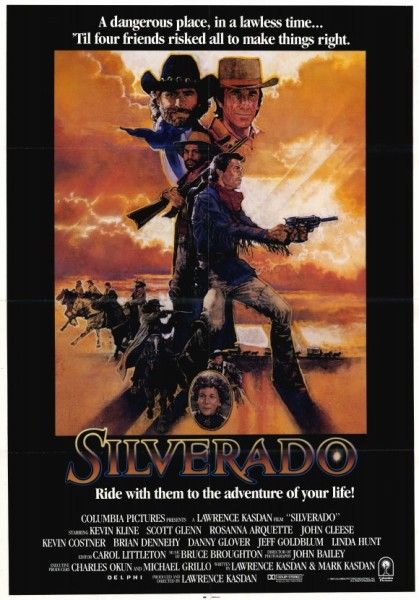 silverado western movie poster kevin costner danny glover