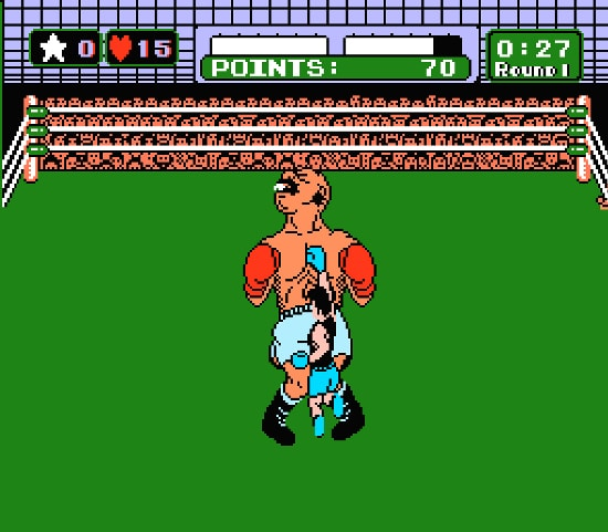 Mike Tyson 90s punch out video game.