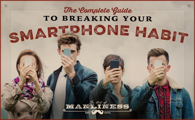Youngest looking at smartphones with blocking faces.