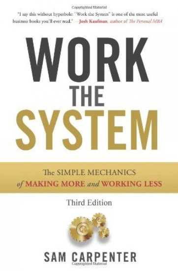Book cover, work the system by Sam carpenter.