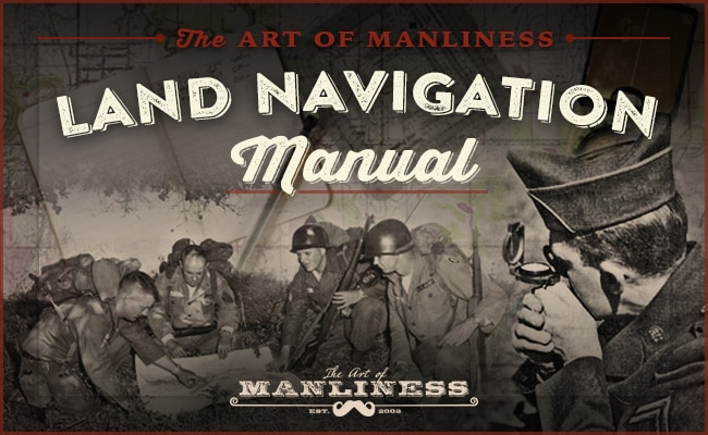 land navigation manual vintage soldiers looking at maps