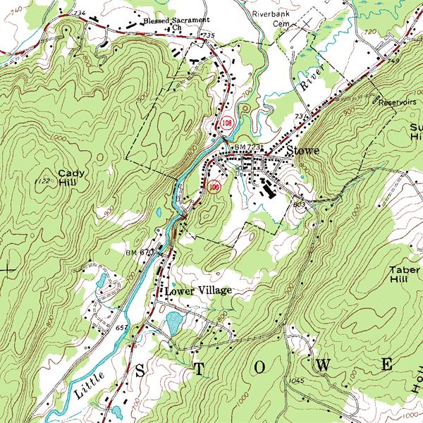 Land navigation map.
