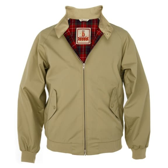 baracuta khaki harrington blouson jacket