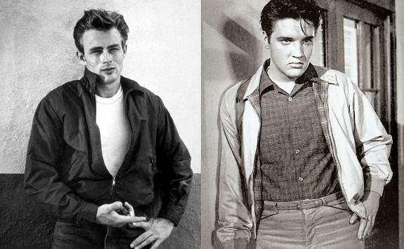 james dean elvis presley wearing harrington blouson jackets