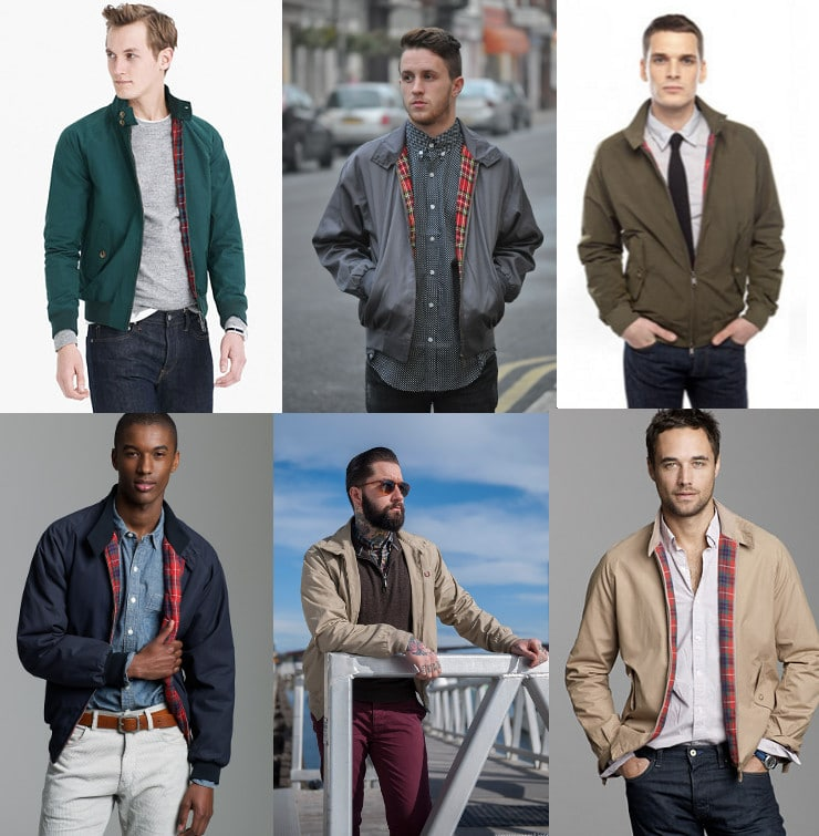 harrington blouson jacket styles varieties
