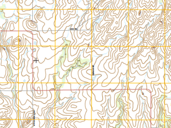 Military topographic map.