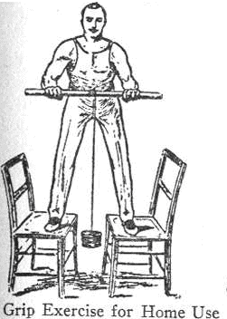 vintage oldtime strongman exercise rolling weight forearms illustration