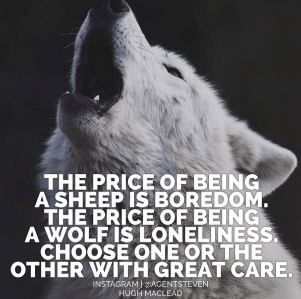 alpha wolf howling lonely wolf meme