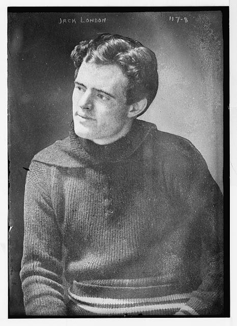 young jack london portrait wearing sweater looking off