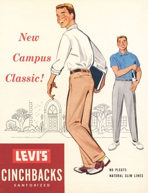 vintage 1950s levis khakis ad advertisement