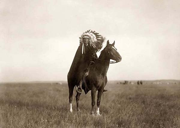 chief wabasha native american chief on horseback on field