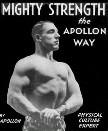 vintage bodybuilding pamphlet mighty strength the apollon way