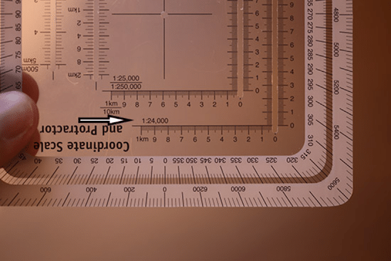 military protractor 1:24,000 scale