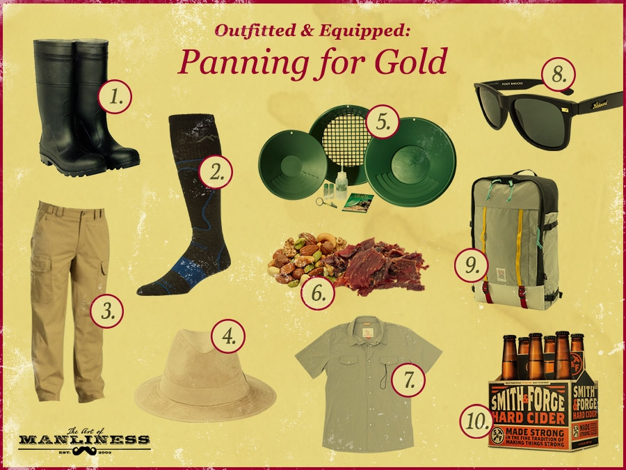 What to wear panning for gold supplie.