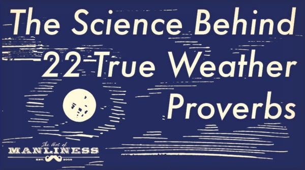 weather proverbs that are true full moon at night
