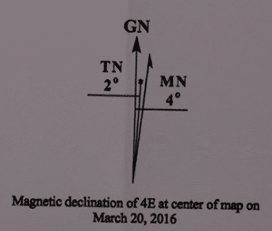 magnetic declination land navigating