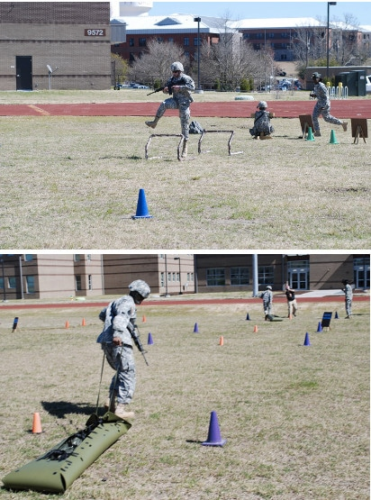 army combat readiness test soldiers in uniform