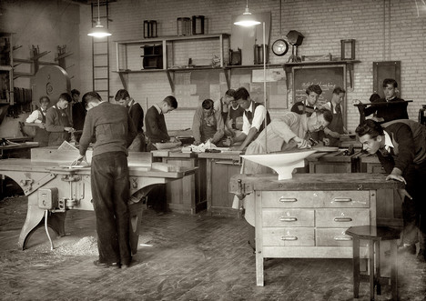 vintage wood shop class workshop