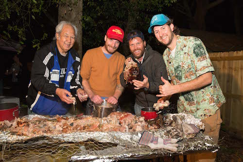 how to cook a pig underground, Hawaiian style