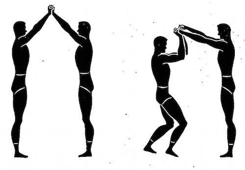 wwii strength and conditioning exercises wrist bending illustration