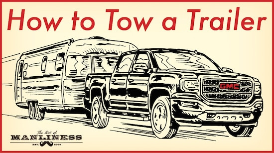 gmc truck towing an airstream trailer illustration
