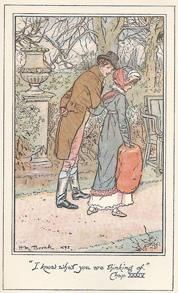 "jane austen illustration ""i know what you are thinking of"""