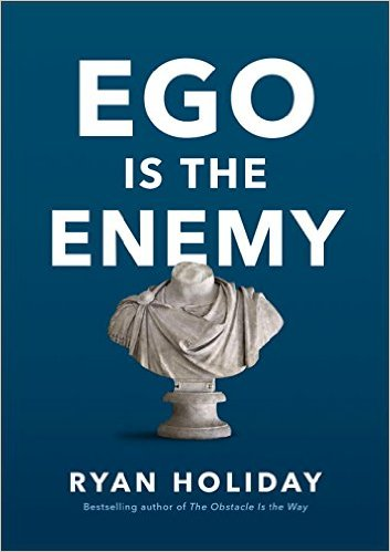 Ego is the enemy by Ryan Holiday, book cover.