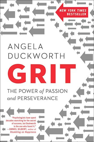 Grit by Angela Duckworth, book cover.