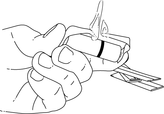 gum wrapper fire survival hack illustration