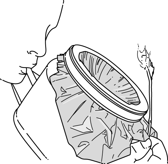 emergency blanket lens survival hack illustration